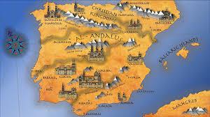 antica mappa di al andalus